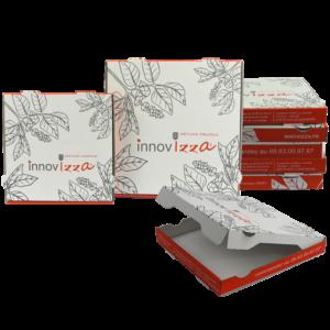 mini boîte pizza personnalisée