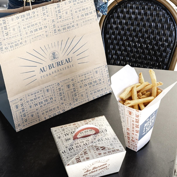 barquette frites jetable personnalisée